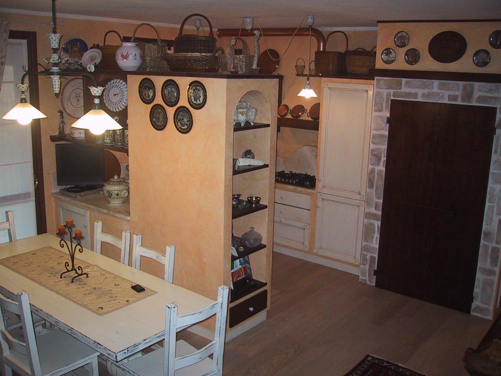 Cucina in muratura – Residenza privata (Prato)